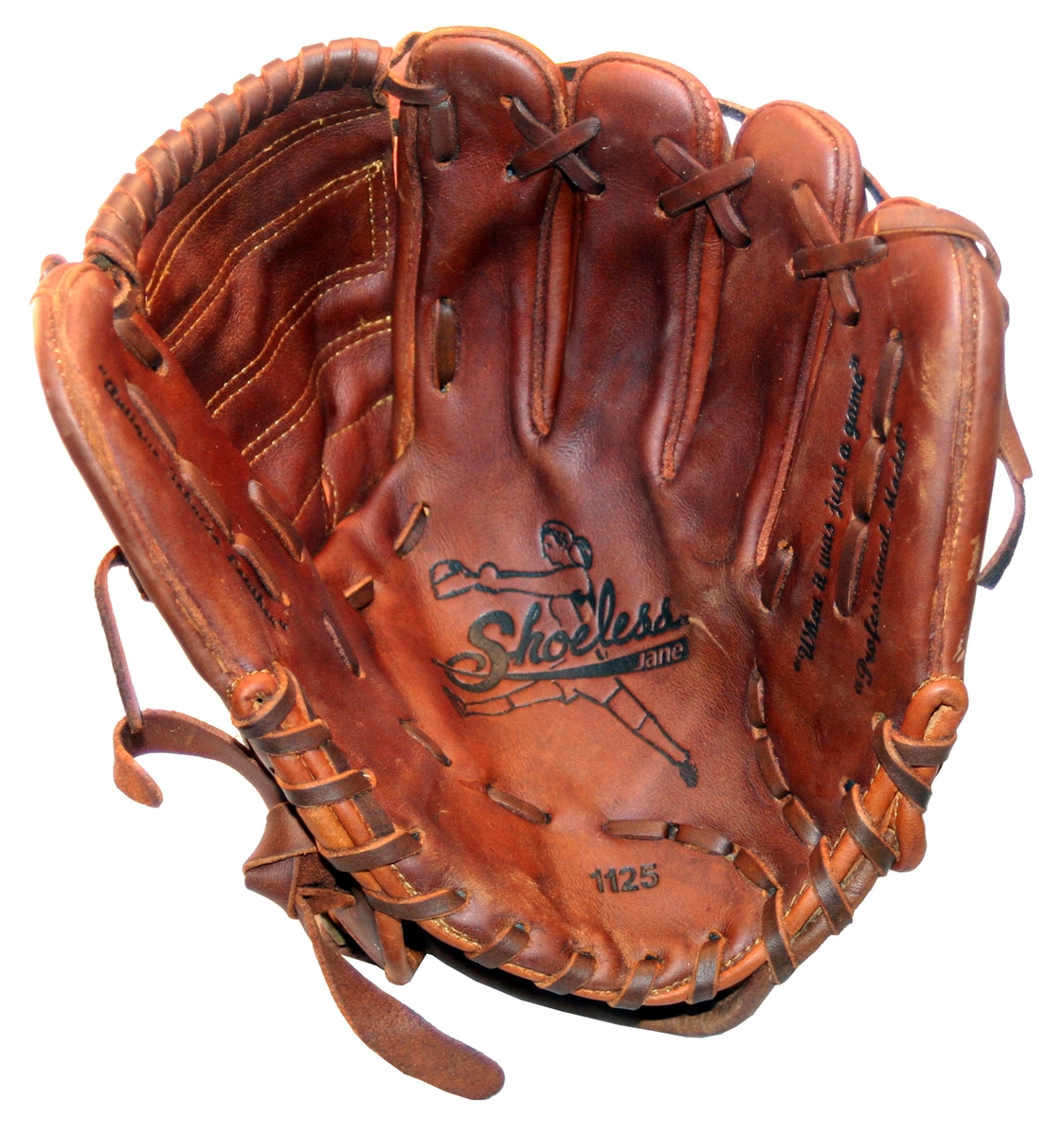 Softball and glove