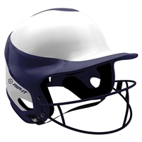 Gloss Vision Pro Fastpitch Softball Helmet Navy / Home