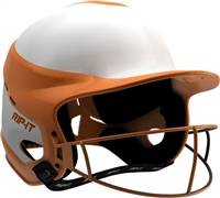 Gloss Vision Pro Fastpitch Softball Helmet Orange / Home