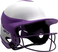 Gloss Vision Pro Fastpitch Softball Helmet Purple / Home