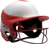 Gloss Vision Pro Fastpitch Softball Helmet Scarlet / Home