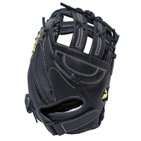"Vinci Mesh Series JCV-VM Black with Black Mesh 33""  Fastpitch Softball Catchers Mitt"