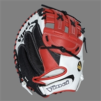 "Vinci Mesh Series JCV33 Red & White with Black Mesh 33"" Fastpitch Catcher's Mitt"