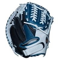 "Vinci Mesh Series JCV34 Blue & White with Black Mesh 34"" Fastpitch Catcher's Mitt"