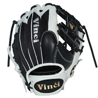 "Vinci Mesh Series JV26-M White with Black Mesh 11.75"" Fielders Glove"