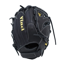 "Vinci Mesh Series TC-21 12"" Fielder's Glove Black with Black Mesh"