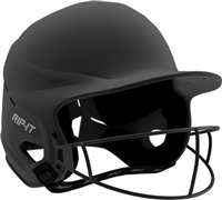 Matte Black Vision Pro Fastpitch Softball Helmet