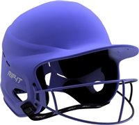 Matte Royal Vision Pro Fastpitch Softball Helmet